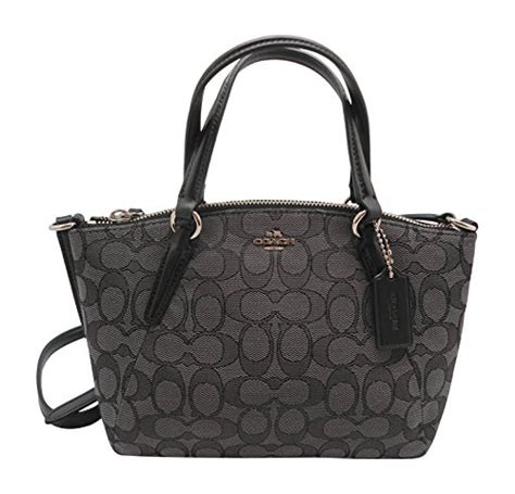 Tas Coach Kelsey Small Smoke Sign coach signature mini kelsey satchel crossbody bag khaki brown