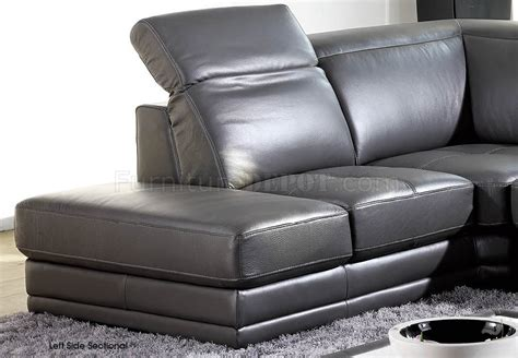 dark grey leather sofa dark grey full genuine italian leather modern sectional sofa