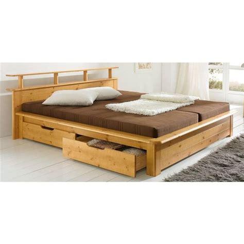 lot de 2 tiroirs de lit en pin massif home affaire finja