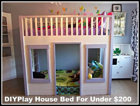 kids house bed kids rooms how to organize your kids bedroom diy house bed under 200 thrifty