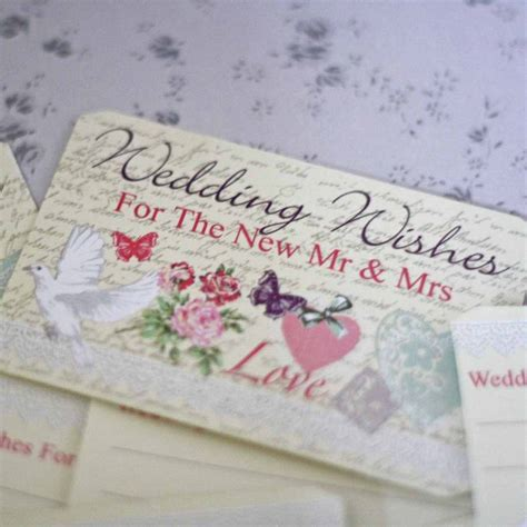 Wedding Wishes Original by Floral Wedding Wishes Cards Alternative Guest Book By The