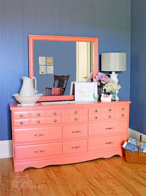 Colorful Dressers Furniture by Best 25 Coral Painted Furniture Ideas On