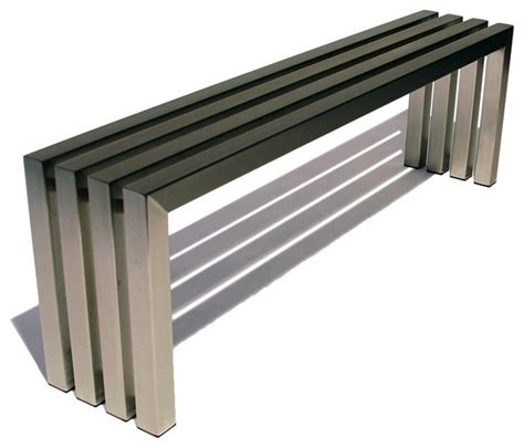 modern metal bench 17 best images about stainless steel bench on pinterest
