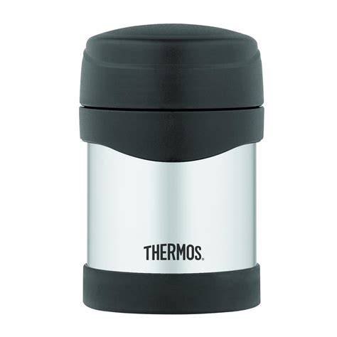 thermos 10 oz stainless steel food jar black flask coffee
