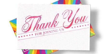 vistaprint note card template save 25 on personalised thank you cards from vistaprint