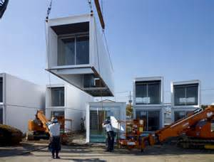 Precast Concrete Benches Help In A Hurry Disaster Relief Container Homes For Japan