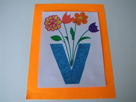V Is For Vase by Letter V For Vase Alphabet Ideas