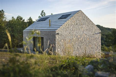 compact house a compact stone and concrete cottage in slovenia dekleva
