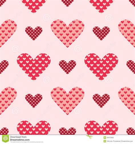 vector heart tutorial light and dark pink seamless heart vector pattern stock