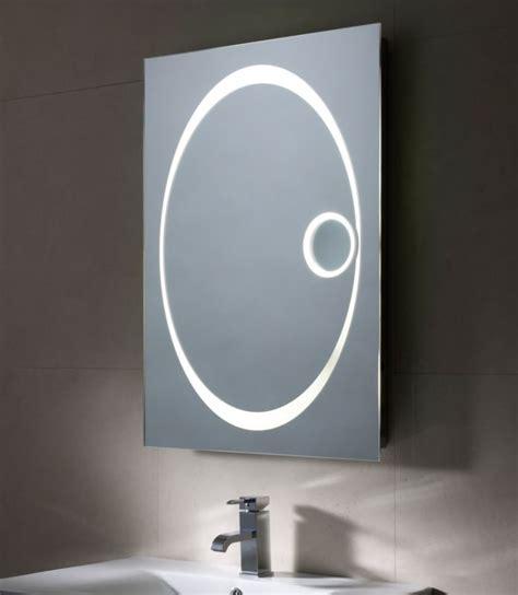illuminated magnifying bathroom mirrors vapour led illuminated magnifying mirror o kane