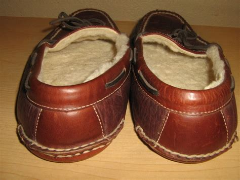 ll bean mens leather slippers ll bean mens brown leather moccasins slippers driving