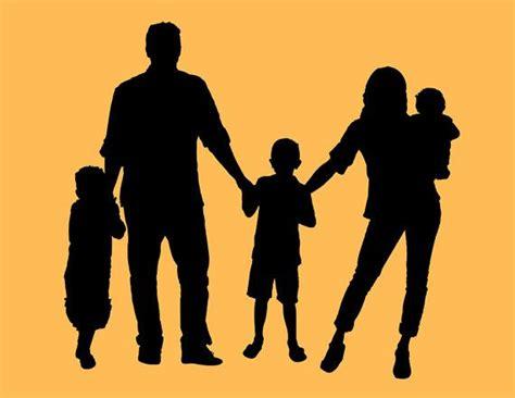 family of 5 holding silhouette www pixshark