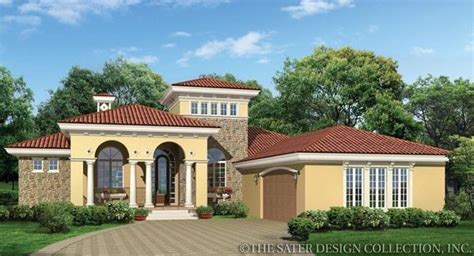 pin by sater design collection on mediterranean house casina rossa house plan mediterranean house plans and