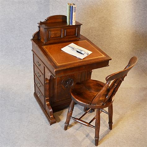 antique study table antique davenport desk oak pedestal