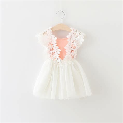 white baby dress sale new 2016 summer baby clothing lace flower toddler