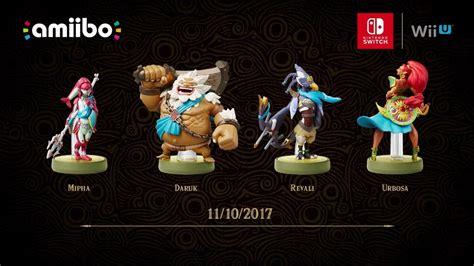 Amiibo Mipha The Legend Of Breath Of The the legend of breath of the ecco quattro nuovi amiibo news
