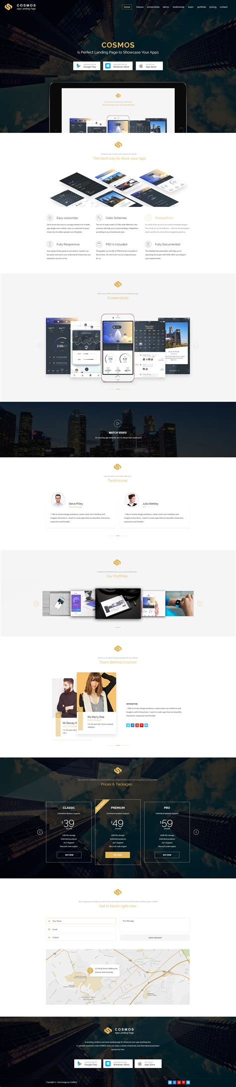 a s purpose preview cosmos multi purpose app landing page with builder by pixartthemes