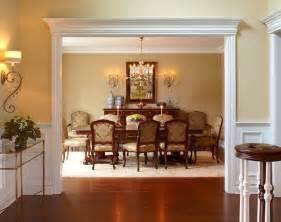 traditional open foyer amp dining room transitional