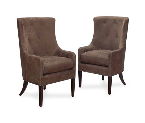Brown Suede Dining Chairs A Set Of Six Brown Suede Upholstered Dining Chairs Late 20th Century Christie S