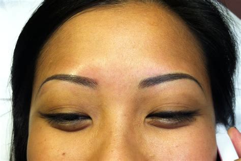 hair stroke eyebrow tattoo semi permanent makeup cosmetic hair stroke