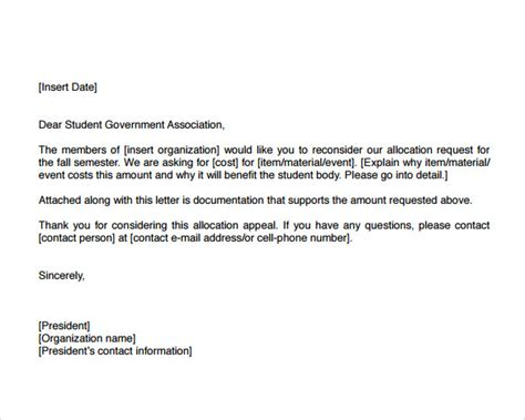 Appeal Letter Template Doc How To Write An Appeal Letter For College Admission Decision