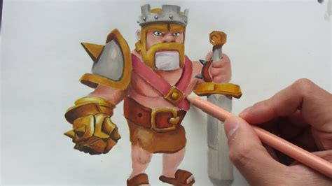 Clash Of Clans King drawing barbarian king from clash of clan