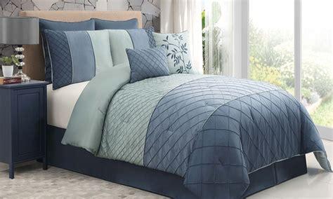 8 piece covington pintucked comforter set groupon