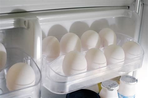 Farm Fresh Eggs Shelf by Tray Of Farm Fresh Eggs In The Refrigerator 8062