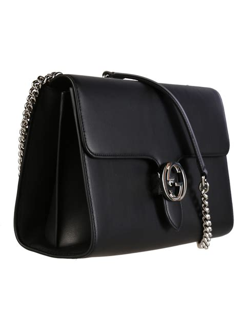 Black Shoulder Bag gucci moon leather interlocking shoulder bag in black lyst