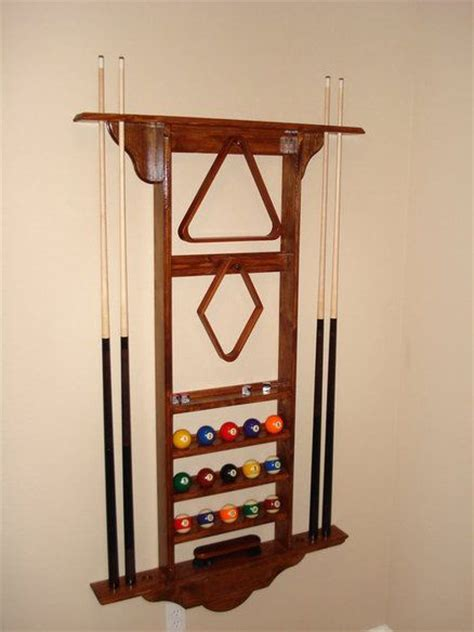 Pool Wall Rack by 1000 Images About Wood Projects Pool Stick Rack On