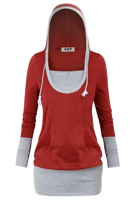 L561 Jaket Hoodies Zipper Jumper Sweater Dj D Kode Pl561 5 color block casual sleeve pullover hoodie sweatshirt tunic top s 2xl ebay