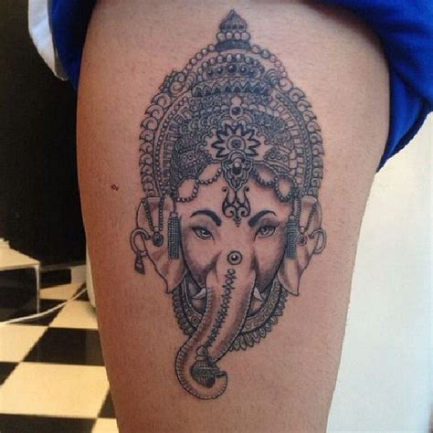 elephant with headpiece tattoo image gallery indian elephant tattoo