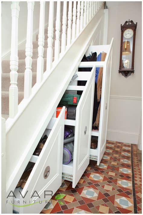 stairs storage ideas gallery  north london