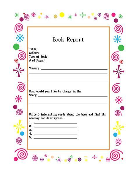 Report Book Template