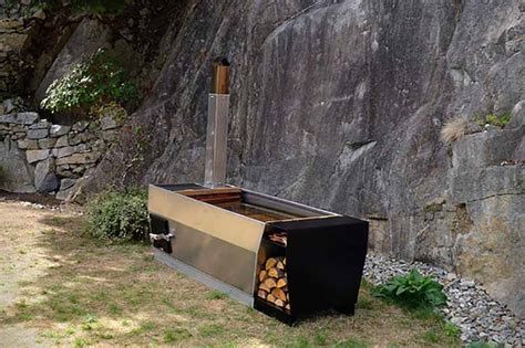 Outdoor Bathtub Wood Fired by Outdoor Wood Fired Soaking Tub Home Design Garden Architecture Magazine