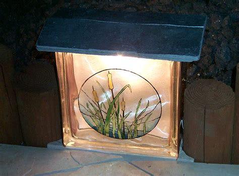 make your own light glass block craft lights christmas decore