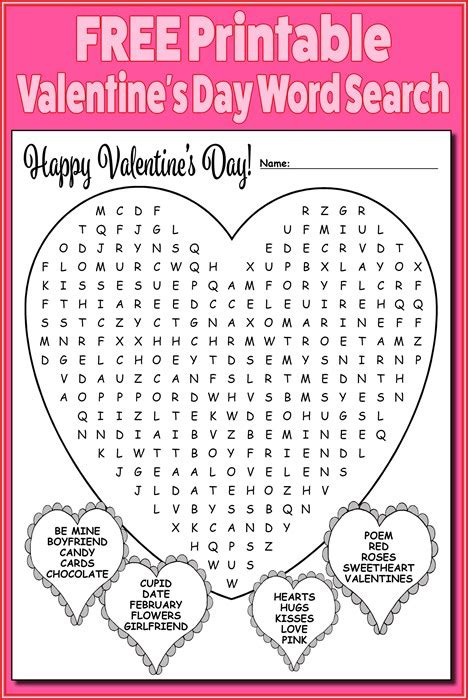 Search S Free Printable S Day Word Search
