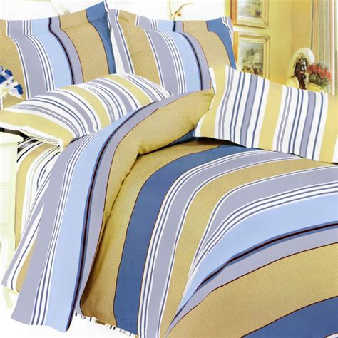 yellow and blue bedding blue and yellow bedding golden blue stripes duvet