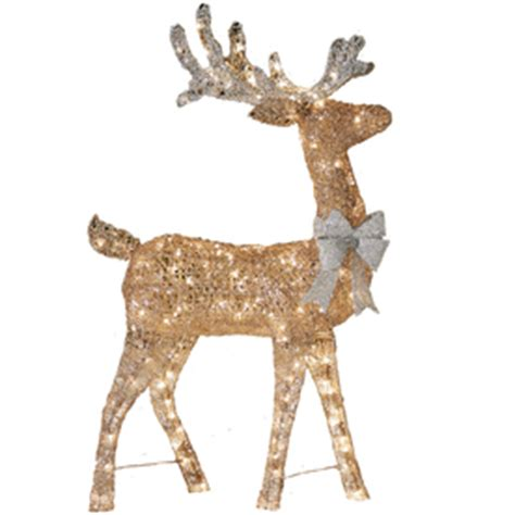 shop holiday living lighted reindeer outdoor christmas