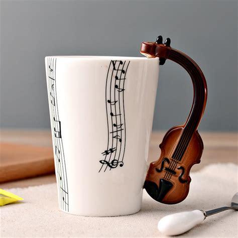 Cangkir Keramik Bergagang Lucu cangkir keramik bergagang lucu model violin white jakartanotebook