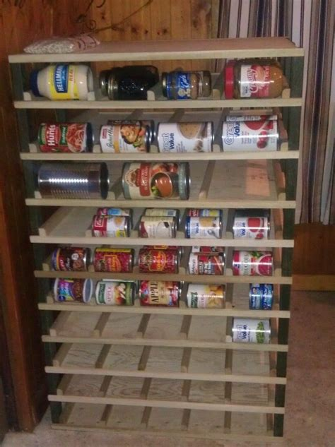 Can Food Storage Rack by Canned Food Storage Rack Was Fairly Easy To Make Works Great Restock From The Back And Pull