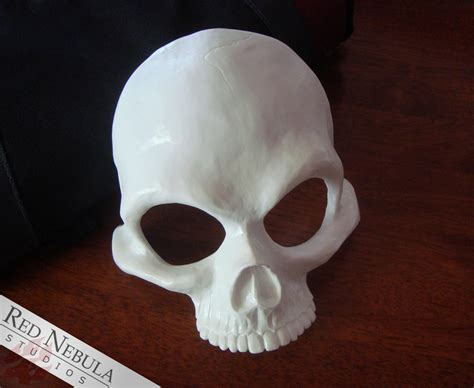 How To Make A Skull Mask Out Of Paper - human skull half mask blank nebula studios