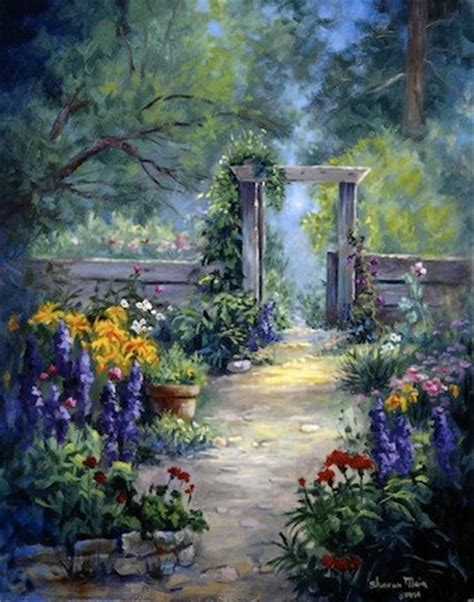 Fine Art Print Oil Painting Print Flower Art By Paintings Of Flower Gardens