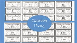 Classroom Money Template by The 4th Grade Journey Two For Tuesday 50 Sale