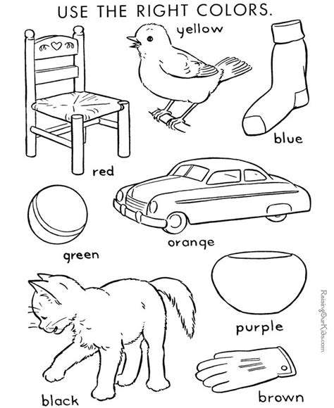 color  number coloring page  kids