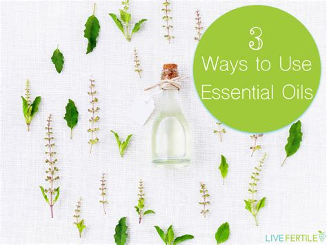 Ways To Use Essential Oils by 3 Ways To Use Essential Oils Live Fertile