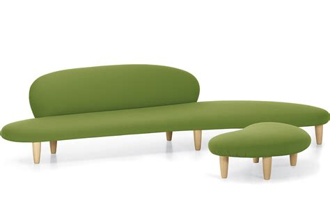 sofa ottomans noguchi freeform sofa and ottoman hivemodern com