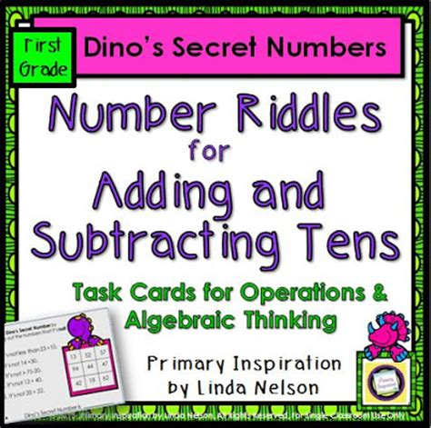 secret riddles primary inspiration math logic puzzles and a freebie