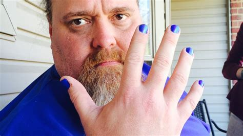 men painting their nails louisiana dad looks to raise autism awareness with blue