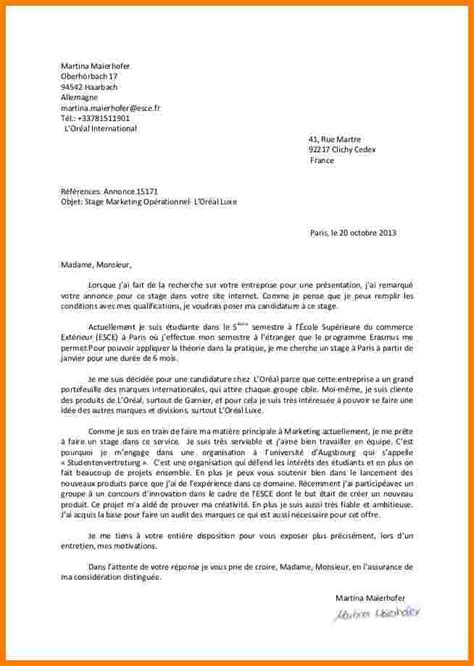 Lettre De Motivation Visa Allemagne 9 Lettre Motivation 233 Cole Lettre Officielle